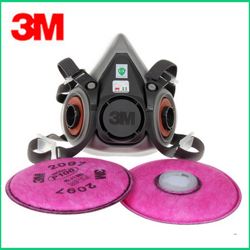3M 6200+2097 Filter Dust Mask Industrial Dust Grinding Cutting Fiber Welding Fume Qrganic Gas Mask