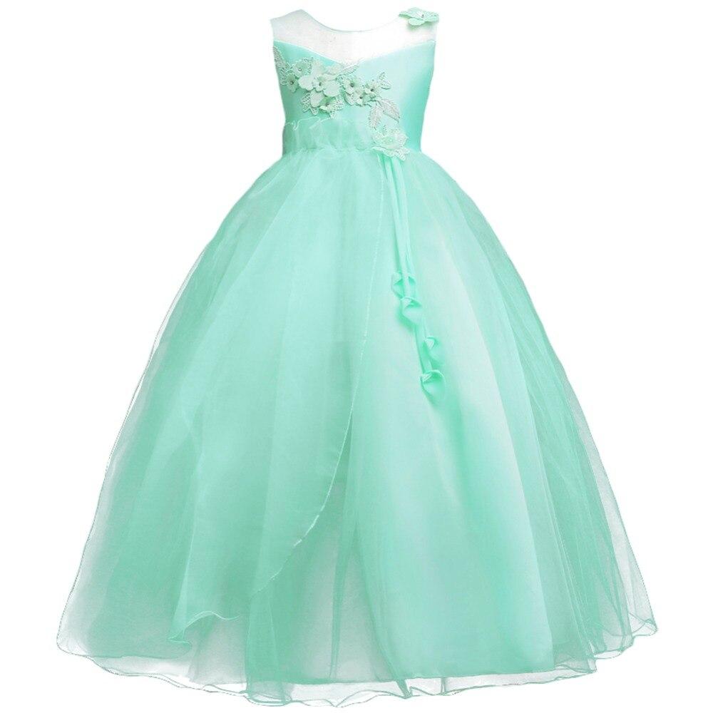 Flower Girls Dress Elegant Princess Pageant Wedding Birthday Party Bridesmaid Kid Dresses for Girls Party Prom Children Dress