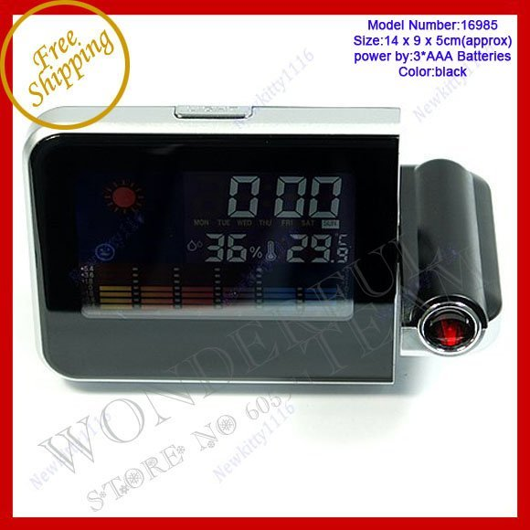 Free shipping! Weather Multi-function Station Projection Alarm Clock