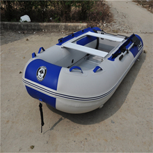 Anti-collision thickening laminated inflatable boat fishing boat rubber boat with aluminum floor