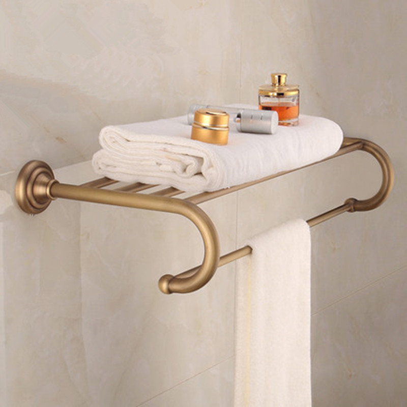 Bathroom Shelves Brass Crystal Towel Rack Antique Towel Shelf Wall Mounted Towel Holder Towel Hanger Bathroom Accessories wall mounted golden crystal bathroom accessories crystal bathroom shelves of blue and white porcelain racks