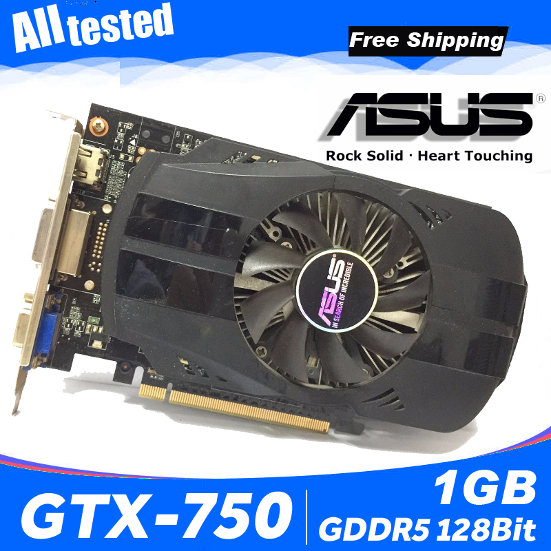 Asus GTX 750 FML 1GB GTX750 GTX 750 1G D5 DDR5 128 Bit PC Desktop Graphics