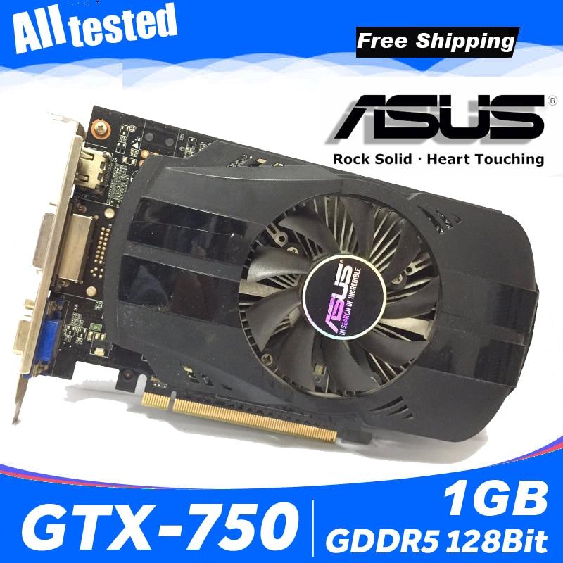 Asus GTX-750-FML-1GB GTX750 GTX 750 1G D5 DDR5 128 Bit PC Desktop Graphics Cards PCI Express 3.0 computer Graphics Cards 750 1GB 1