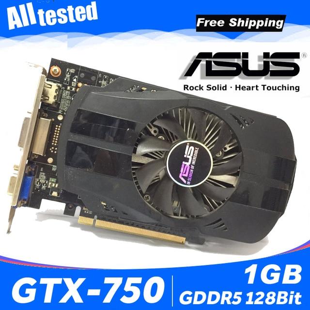 Asus GTX-750-FML-1GB GTX750 GTX 750 1G D5 DDR5 128 Bit MÁY TÍNH Để Bàn PC Card đồ họa PCI Express 3.0 Đồ Họa máy tính thẻ 750 1 GB