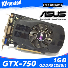 ASUS GTX-750-FML-1GB GTX750 GTX 750 1G D5 DDR5 128 Bit PC Desktop Kartu Grafis PCI Express 3.0 Komputer Grafis kartu 750 1 GB(China)