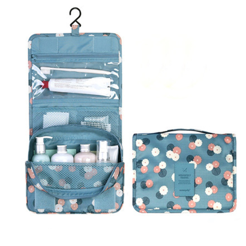 Hanging Toiletry Kit Clear Travel Storage Bag Cosmetic Pockets For Womens Gril Gift Traveling Bathroom Trip Accessories