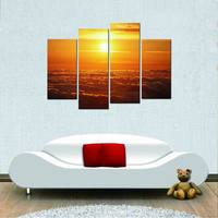 Modern Grand Sight Spray Canvas Print Beautiful Sunset Wall Pictures For Living Room Pictures To Photo