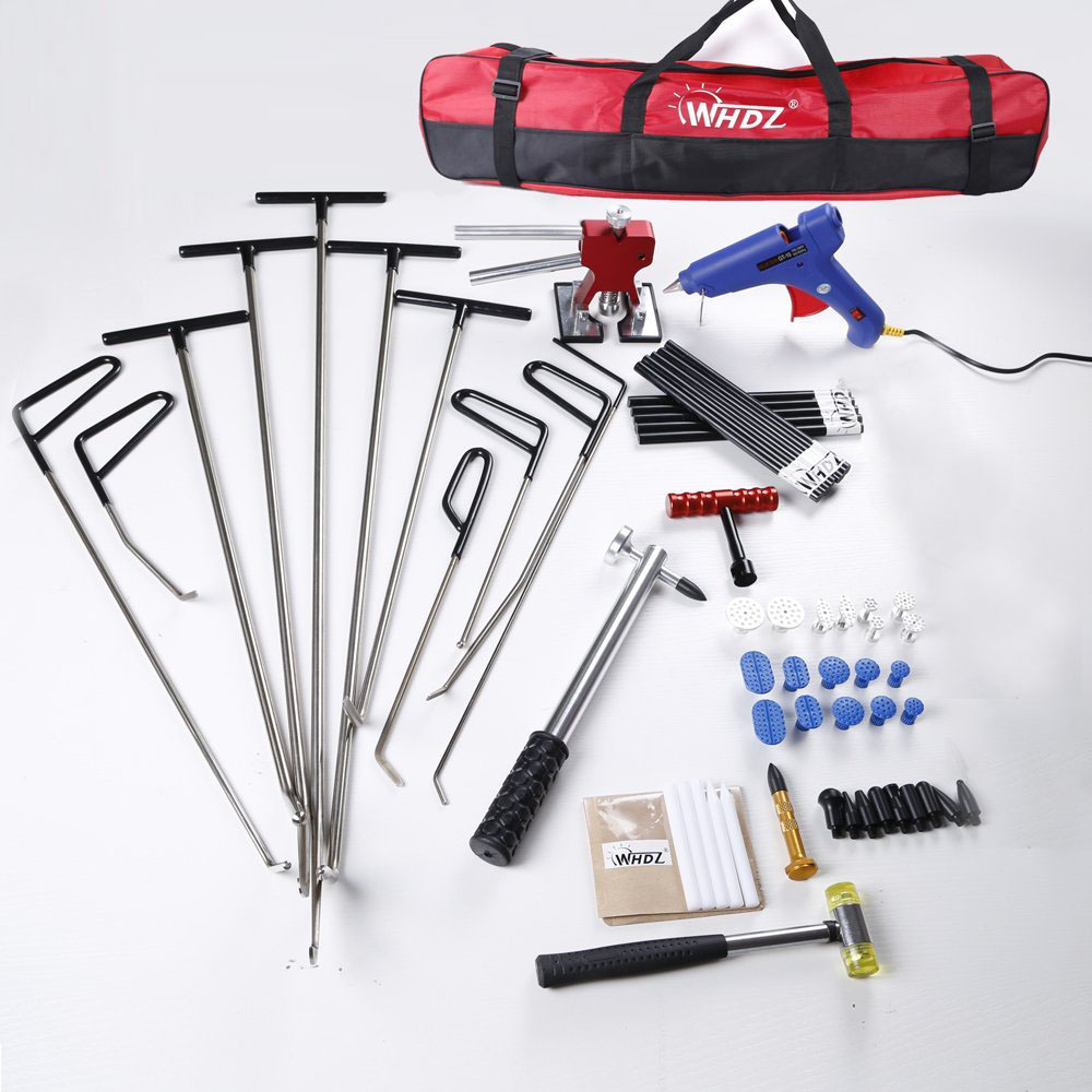 PDR Auto Body Dent Removal PDR Tool Kit - Hail and Door Ding Repair Starter Set Dent Lifter with Slide Hammer