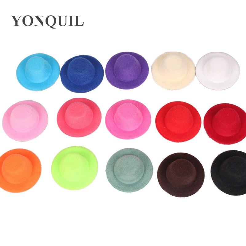 Multiple Color 5cm Mini Top Hats Cute Girl Party Headwear Diy Hair