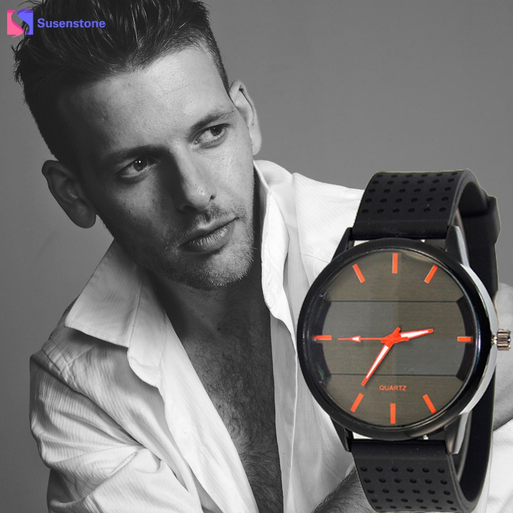 Luxury Analog Quartz Sport Military Stainless Steel Dial Leather Band Wrist Watch Men Male Clock relogio masculino reloj mujer fashion noctilucent wrist watch modern desgin sport men circle round dial quartz watches stainless steel band strap males reloj