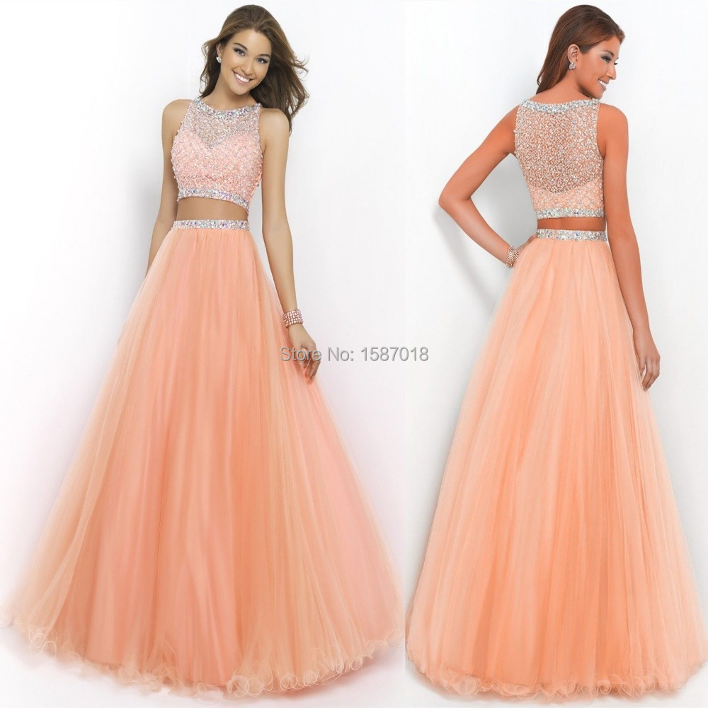 high neck prom dress beaded bodice 2 piece dresses 2015 galajurken long fitted - Dream Lisa_1 store