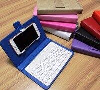 9 kolory bezprzewodowa Bluetooth Klawiatura PU Skórzane Etui Telefon komórkowy Stojak dla iPhone 8 7 6 S Lenovo Samsung Huawei Xiaomi ZTE Sony