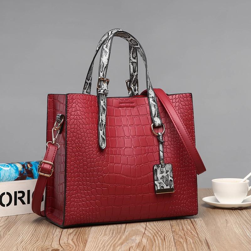 4c7f766fcf20 Натуральная кожа Сумочка Роскошные Для женщин сумка модный топ-ручка сумки  крокодил картина Лакированная кожа