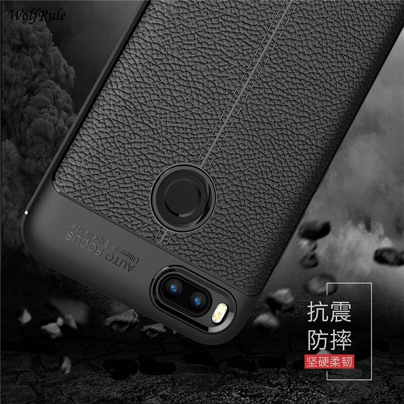Xiaomi Mi A1 Cases WolfRule Xiaomi Mi5X Cover Shockproof Luxury Leather TPU Case For Xiaomi Mi A1 Phone Shell Xiaomi Mi 5x 5.5