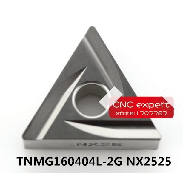 10PCS TNMG160404L 2G NX2525 TNMG160408L 2G NX2525 cutting blade turning tip Suitable for MTJNRMTQNR MTENN Series