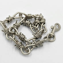 hip hop men jewelry Handmade Men Women Chain Thorns Spur Necklace Heavy Duty Padlock Choker Metal Collar for necklace
