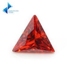 3x3 ~ 10x10mm треугольной формы 5a оранжевый свободные cz драгоценные