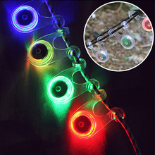 4pcs /set Outdoor camping decoration lamp backpack bicycle safety warning  silicone flashing lights LED tent rope hanging