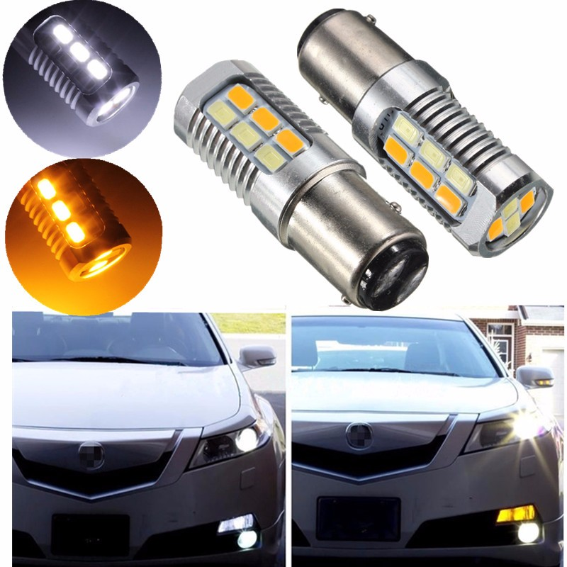 2pcs 1157 BAY15D P21/5W 22SMD 5630 LED Auto Car Dual Color Switchback Turn Signal Light Lamp Bulb DRL Led Daytime Running Light 2x 1156 ba15s s25 bau15s canbus dual color switchback led car auto front turn signal drl daytime running light lamp bulb 12 24v