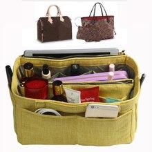 Fits Speedy Neverfull MM PM GM Hand Woven Cloth bag Organizer Tote Purse Insert Waterproof Cosmetic Diaper Belongings Bag in