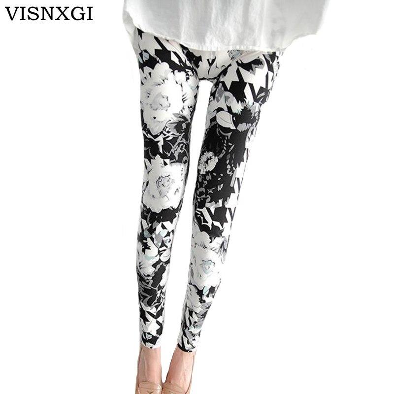 VISNXGI Fashion Women Leggings Printing Fitness Legging Sexy Silm Legins High Waist Stretch Trouser Pants Hot Sales Clubwear