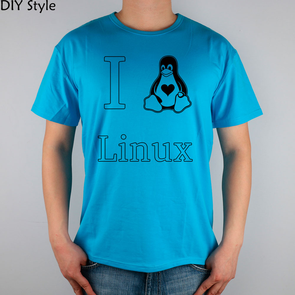 I LOVE LINUX interesting CODER programmers t-shirts with short sleeves high quality Fashion Brand t shirt