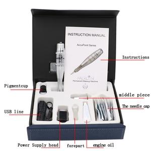 Image 2 - Original USA biotouch Merlin Tattoo machine Kits Permanent Makeup machine Cosmetic Kit With Foot Pedal Tattoo Gun Needle GOOCHIE