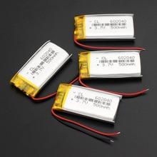 1/2/4x2019 Новое поступление Лидер продаж высокое качество 602040 3,7 v 500mAh высокой Ёмкость Перезаряжаемые литий Li-po литий-полимерный литий-ионный Батарея