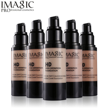 IMAGIC HD Liquid Foundation Whitening Flawless Fulid Concealer Makeup Beauty Moisturizer Oil-control Waterproof Cosmetics 30ML