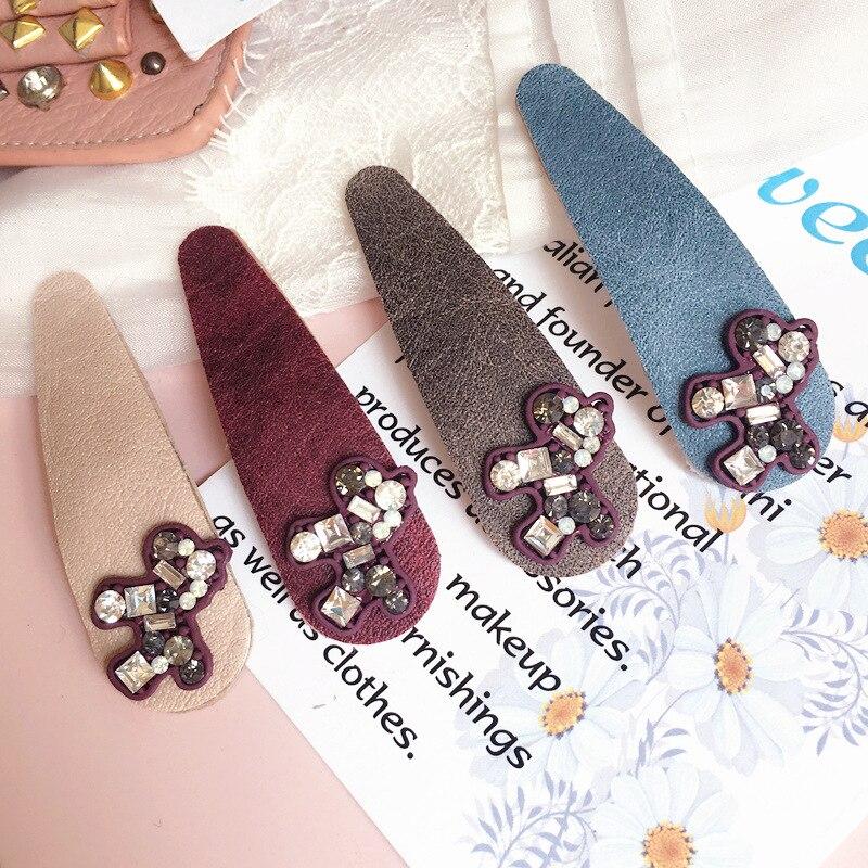 Корея маленькая пони кристалл алмаза Женские аксессуары для волос Ткань волосы луки обода шпилька Заколки для волос для Для женщин Банданы ...