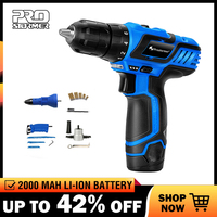 PROSTORMER 12V Cordless Drill 25NM Electric Screwdriver 1h Fast charging Rechargeable Household Mini Power Tools Drill Bit Set
