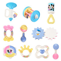 Disney Mickey Educational Musical Trumpet Barbell Tambourine Hand Rattles Baby Toys for Toddlers Bite Shake Hear Good Quality