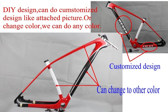 WOKECYC 27.5/29er chinese carbon frames 650b 15/17/19 inch 29 carbon ...