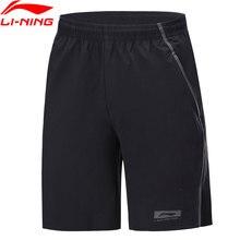 Li-Ning мужские баскетбольные спортивные шорты, дышащие, обычная посадка, 88% нейлон, 12% спандекс, удобные спортивные шорты AKSP053 MKD1628