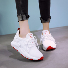 Womens flats 2019spring new small white shoes female wild lightweight running breathable student knit casual sports
