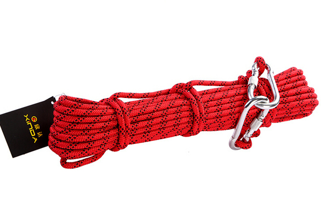 10 meters/piece Outdoor climbing ropes safety equipment solid belt Life ropes 8MM Nylon strong ropes for Rock climbing GM1419