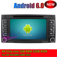 Roadlover 2G+32GB Android 6.0 Octa Core Car PC Media Center DVD Player Auto Video For VW Touareg 2004 2011 Stereo GPS Navigation