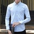 2017 New Casual Shirt Spring Autumn Cotton Dress Shirts Male Fashion Shirts Slim Men Plus Size M-5XL Printed Shirts