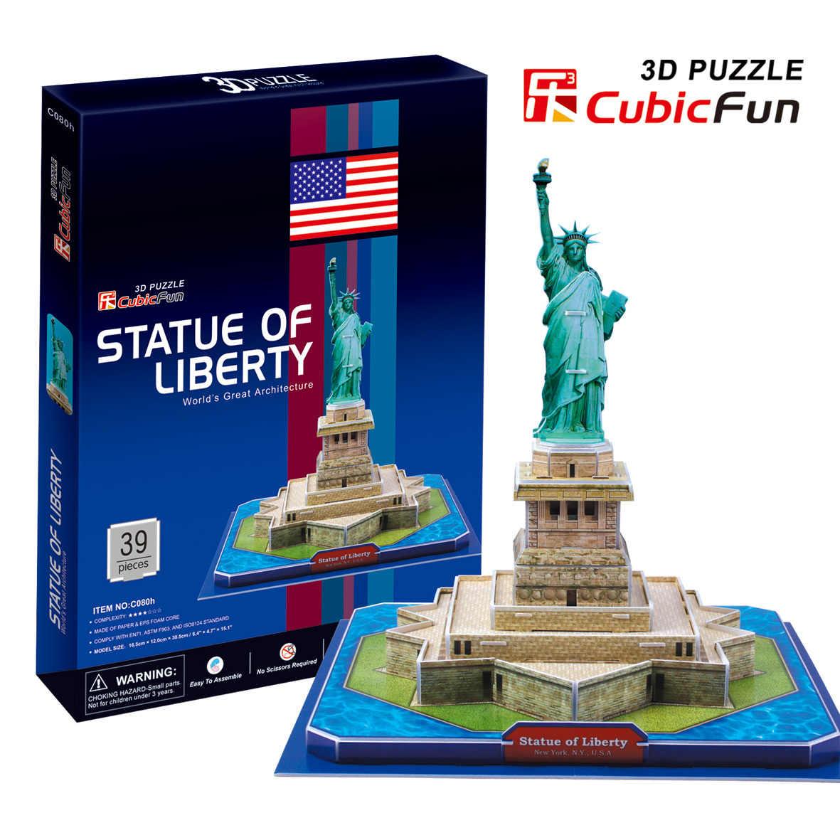 Обучающие игрушки 3d модели бумажная модель головоломка Статуя Свободы c080h|paper