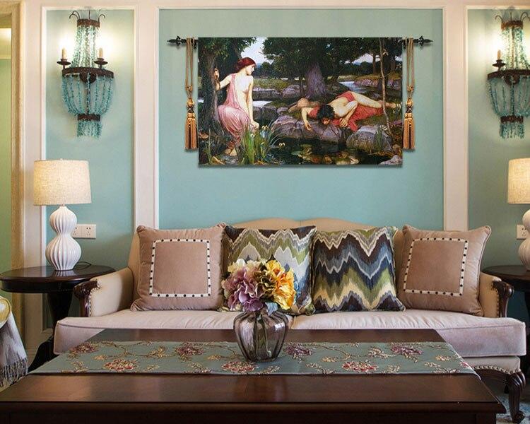 110*175 Belgium tapestry living room sofa background wall blanket Greek Mythology art fabric home textile - 5