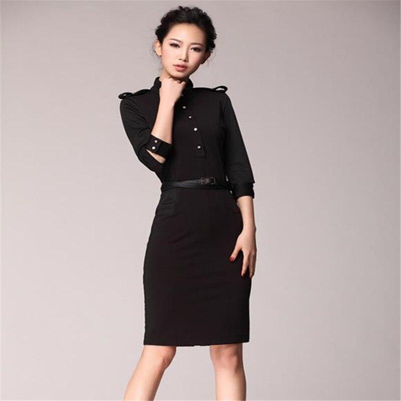 Donna primavera OL vestiti più di formato femminile autunno di grandi dimensioni di copertura Fiocchi e Fasce delle donne del vestito sottile Spallina Vestido lady button Robe