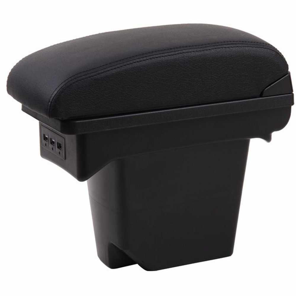 Cho Đồng Hồ C4 tay hộp đa năng ô tô xe điều khiển trung tâm caja sửa đổi phụ kiện Đôi Lớn lên với USB