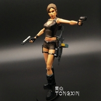 Tomb Raider 10 Laura genuine 7inch game movable dolls model toys Resident Evil NECA Action Figure