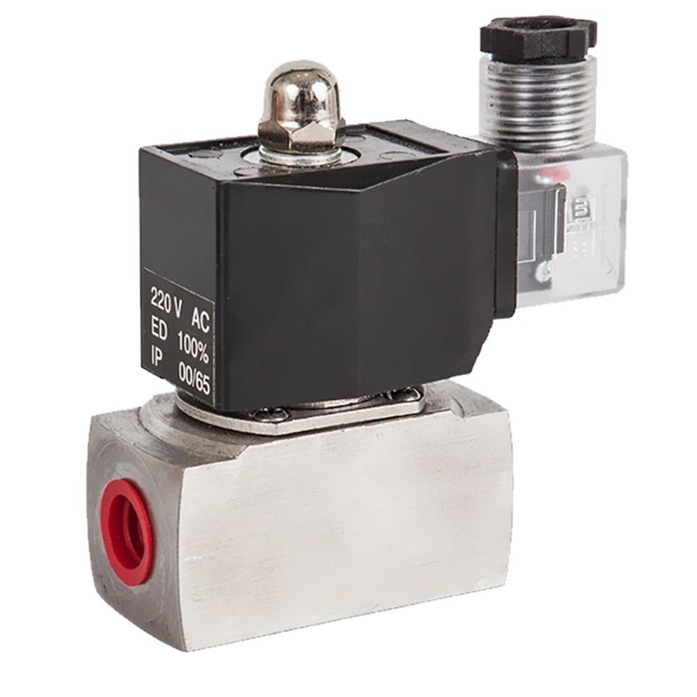 Piston type antiseptic acid solenoid valve,Stainless Steel Normally Closed water liquid oil gas steam 2 way Valves, 150 C