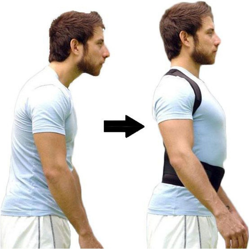 Adjustable Posture Corrector All-In-One Back Support Shoulder Lumbar Brace Belt Strap Universal for Men Women