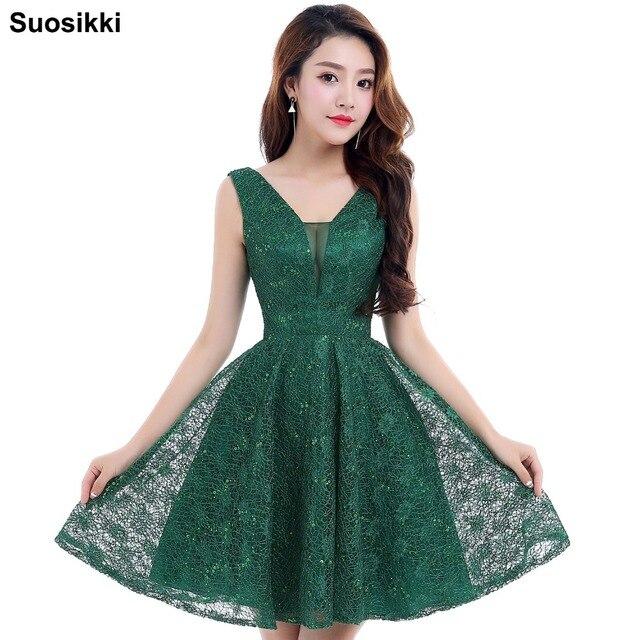 e08e7dda95 Evening dress 2018 black short design the banquet dress one-piece dress  V-neck plus size women short evening dresses 0326