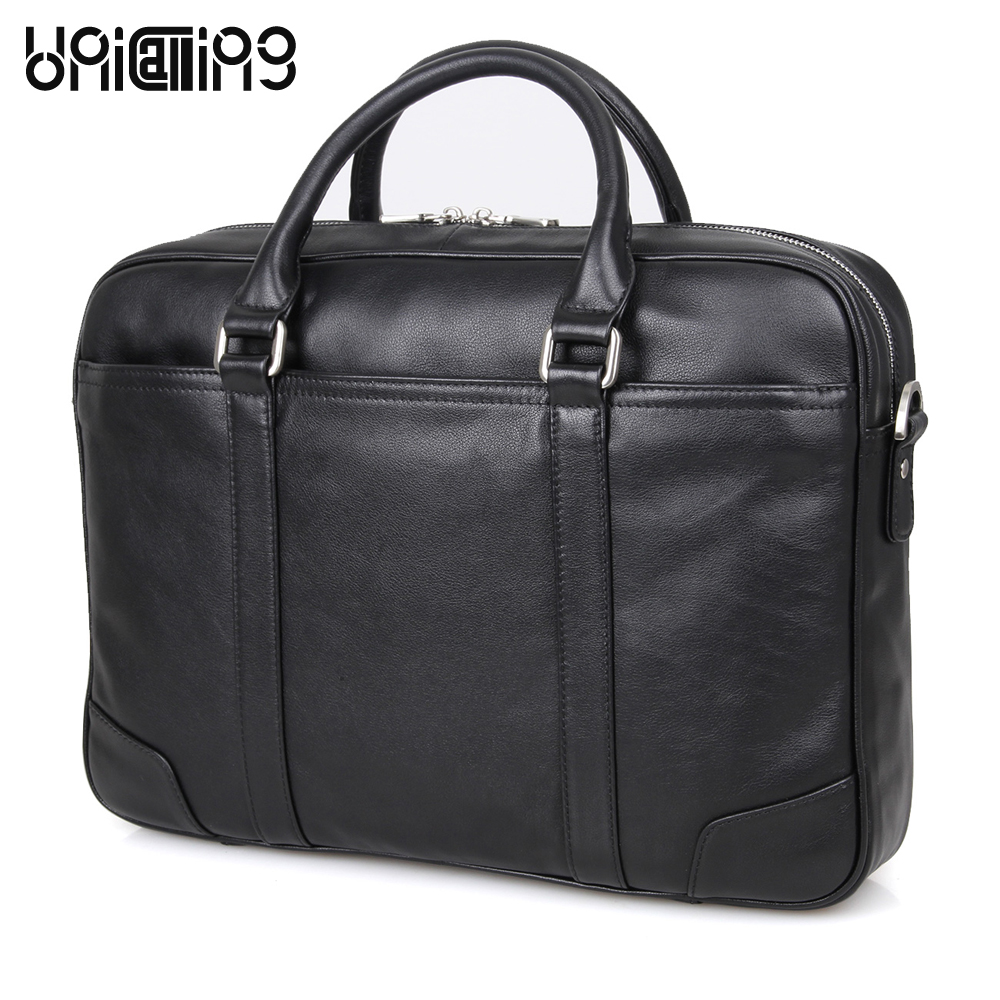 Laptop bag 15.6 inch leather laptop bag fashion men genuine leather handbag large capacity real leather laptop shoulder bag