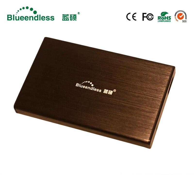 """Алюминий blueendless поддерживают 1 ТБ чтения Ёмкость Портативный жесткий диск 2.5 """"SATA USB3.0 HDD SSD Caddy Внешний жесткий диск"""