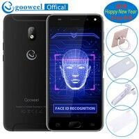 새로운 5 인치 휴대 전화 Gooweel S7 MTK6580 쿼드 코어 얼굴 웨이크 3 그램 WCDMA 휴대 전화 5.0MP + 2.0MP 카메라 GPS 잠금 해제 휴대 전화