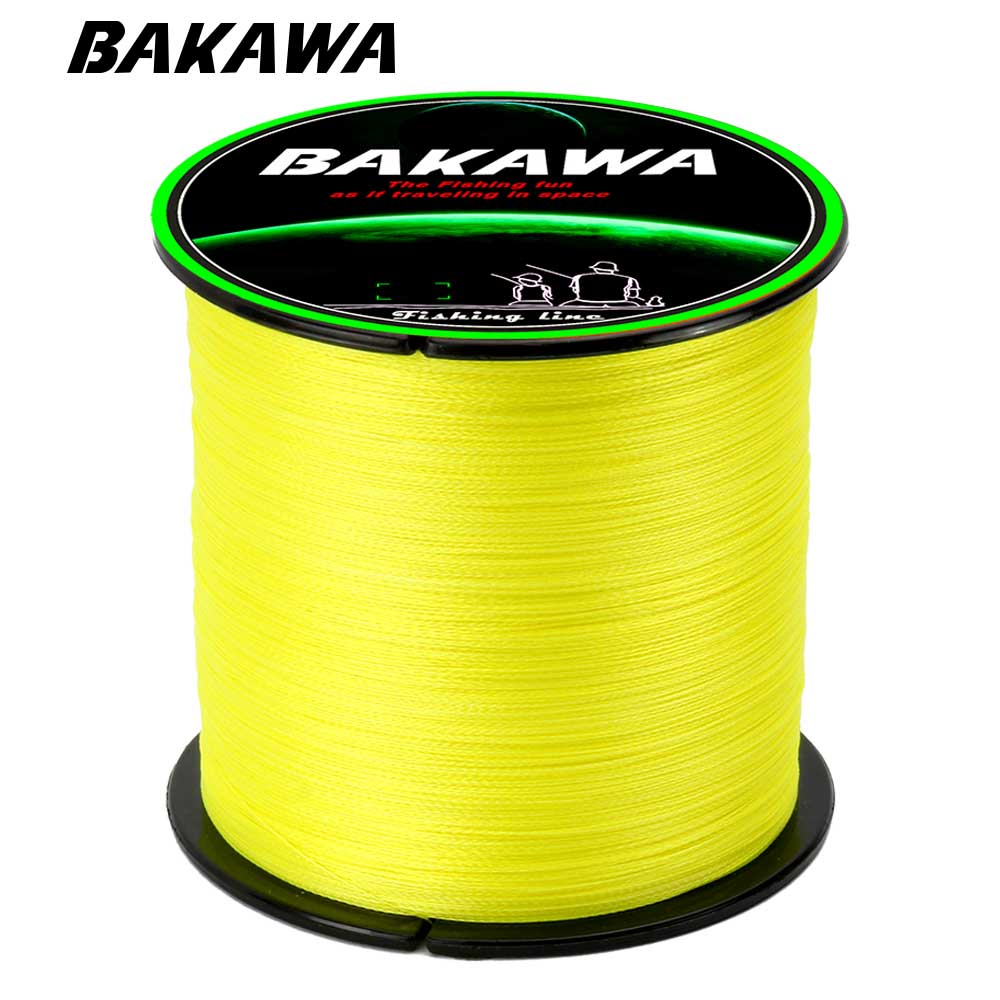 BAKAWA 300M 100% PE 4 Strand Braided Fishing Line Multifilament Fishing Line Super Strong For Carp Fishing Wire
